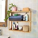 SoBuy® Wandregal aus Bambus, Hängeregal, Badezimmerschrank, Wandschrank, Hängeschrank FRG28-B-N