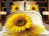 Cotton World 3D Bettwäsche Microfaser Sonnenblumen 155 x 200 cm