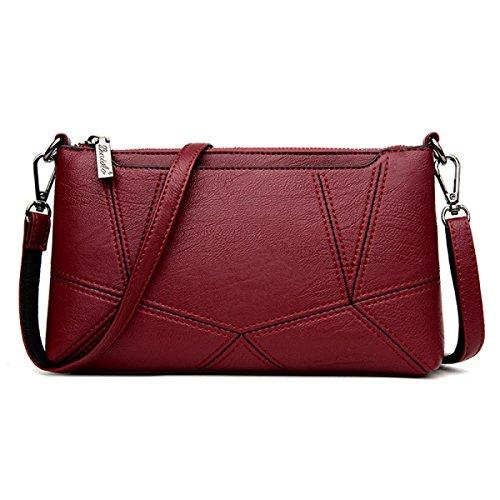 Dame Clutch Weibliche Stitching Korean Fashion Einfache Wild Messenger Bag Umhängetasche B