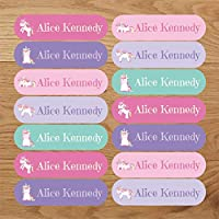 Personalised Unicorn Iron On Name Labels, add Name