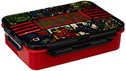 Marvel Avengers Plastic Lunch Box Set, 3-Pieces, Multicolour (HMRPLB 73272-AV)