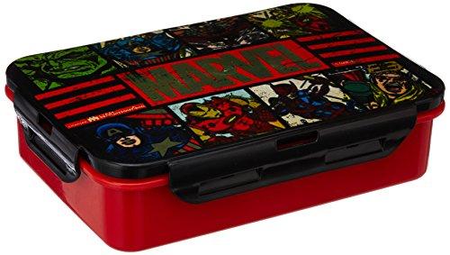 Marvel Avengers Plastic Lunch Box Set, 3-Pieces, Multicolour (HMRPLB 73272-AV)