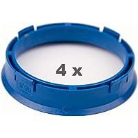 4 X anelli di centraggio 72.2 mm a 66.6 mm arancione