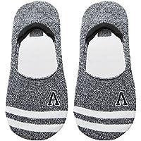 Preisvergleich für Maivasyy 3 Paar Socken Boot Socks Frauen unsichtbar Silikon Rutschhemmend kurze Damen Frühling Sommer Socken, Schwarz