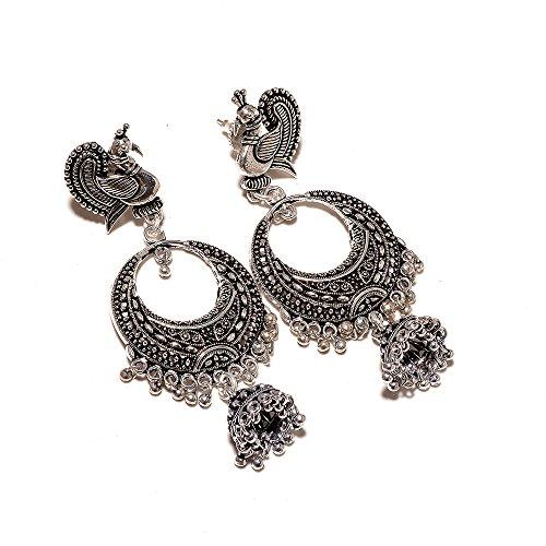 Jewar Oxidised Plated Handmade Jhumka Jhumki Earrings Gift For Her, Girl, Women,...