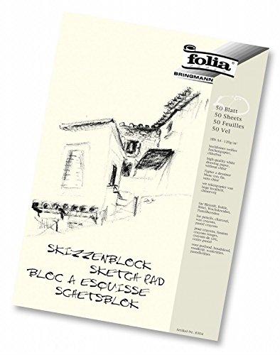 Folia 8304 - Skizzenblock, 120 g/m², DIN A4, 50 Blatt (2er Pack)
