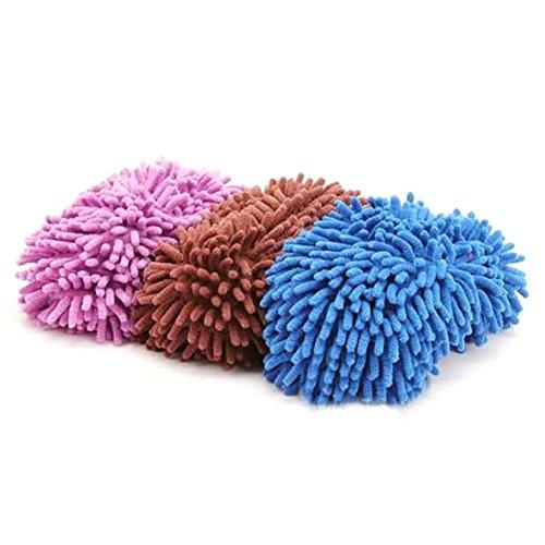 Prom-near Staubmopp Wischmop Bodenreiniger Hausschuhe Schuhreinigung Komfortable waschbar Polieren Staubwischen reinigen Fuß Socken Schuhe Mop Hausschuhe Multifunktion 22 * 8 cm zufällige Farben