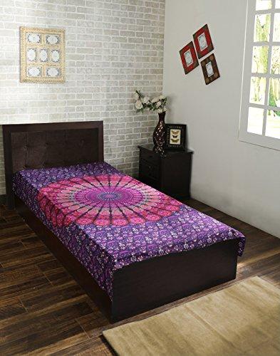 Rosado y púrpura de la mandala de la India de la tapicería, Hippie colgar de la pared, Bohemia colcha, manta de algodón Mandala decoración del dormitorio Beach