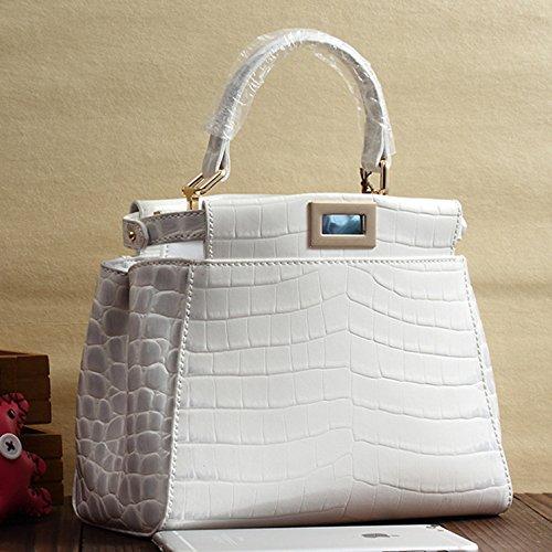 Mefly Nuovo di borsette in cuoio cuoio superiore spalla Mini Cross Bag Himalaya White Himalaya white