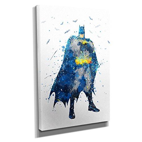Nerdinger Arkham Splash - Kunstdruck auf Leinwand (30x45 cm) zum Verschönern Ihrer Wohnung. Verschiedene Formate auf Echtholzrahmen. Höchste Qualität.
