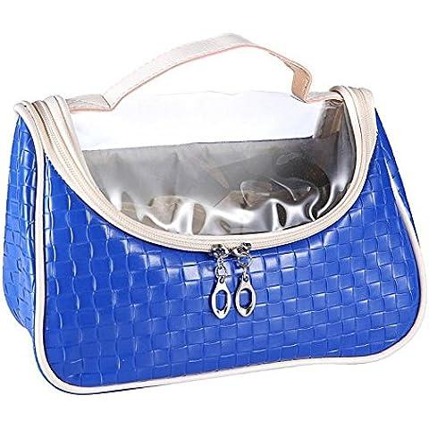 Malloom 1pc Donne Travel Casual Trucco Sacchetto Pouch Pochette Trucco Borsa (blu) - Cartella Pouch