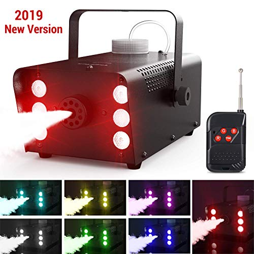 Máquina Niebla 7 Colores 6 LEDs Luces Theefun
