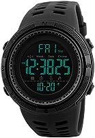 Reloj Digital, para Hombre, para Actividades al Aire Libre, Deportivo, Militar, Sumergible, cronógrafo, Cuenta atrás,...