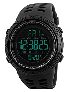 herren digital sport uhren outdoor wasserdichte armbanduhr mit wecker chronograph und. Black Bedroom Furniture Sets. Home Design Ideas