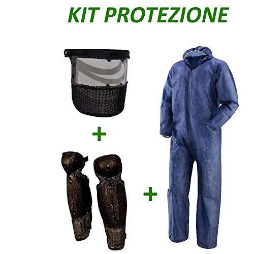 Kit protezione decespugliatore tuta PLP + visiera protezione viso + gambali (L)