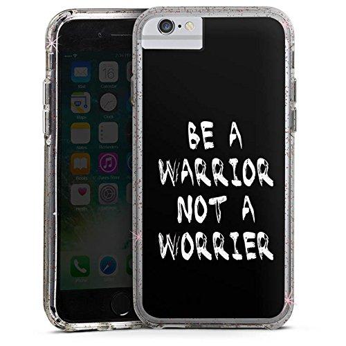 Apple iPhone 6s Plus Bumper Hülle Bumper Case Glitzer Hülle Motivation Fitness Workout Bumper Case Glitzer rose gold