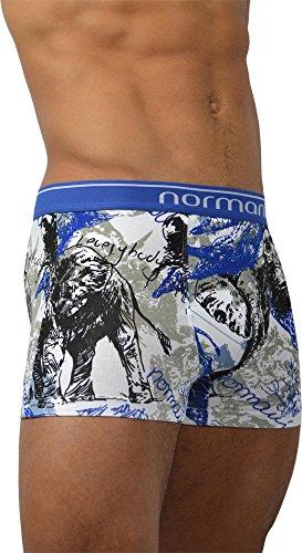 6 x Herren Boxershorts mit weichem Abschlussrand aus Baumwolle mit Elasthan Wild Animals