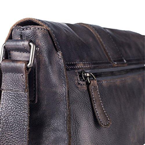 Leder Herren Umhängetasche/Tasche/Mini Volltonfarbe Herren Retro/Freizeit/Herren Messengerbags gray