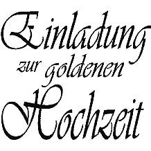 Rayher 28335000 Holz Stempel Einlad. Goldene Hochzeit, 5x6cm, Art.10103