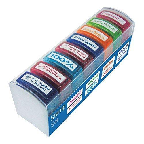 8-pieces-auto-encrage-enfants-professeur-timbres-ecole-multicolore-recompense-encouragement-tampon