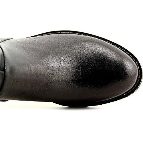 Franco Sarto Crash wide calf Rund Leder Mode-Knie hoch Stiefel Blk/Blk