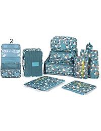 DOKEHOM DKA3002G 8 Set / 9 Cubos del Embalaje organizadores de Viajes, Organizadores para Maletas
