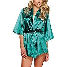 Westeng Lencería Kimono del Cordón Satén Seda Bata Albornoz Camisón Ropa Salto ...