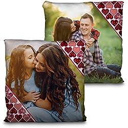 Lolapix Cojín San Valentín. Personalizado con tu Foto. Tamaño 35cm. Varios diseños. Regalo para Enamorados único, Original y Exclusivo. CORAZÓN CENEFAS