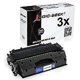 Logic-Seek - Tóner para HP CF280X, color negro, color (04) - 3x negro