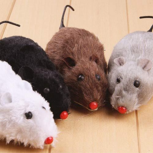 BeesClover Hundespielzeug Maus für Katzen, interaktives Mini-Spielzeug, lustige Mäuse und Tiere, zum Aufziehen, Maus, Ratte, bewegliches Spielzeug