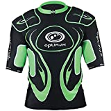 Optimum Men's Inferno Top Protective Shoulder Pads, Black/Green, Small