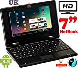 NEW 4Gb 7 inch Black Mini Laptop Netbook. Android 4.1 Latest Software. Latest build.