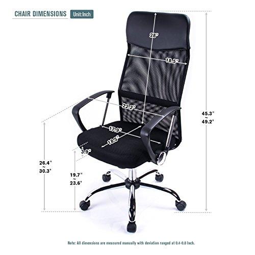 51yp2JxyT1L - Poptoy - Silla de escritorio giratoria con respaldo alto con malla y altura ajustable para el hogar y la oficina