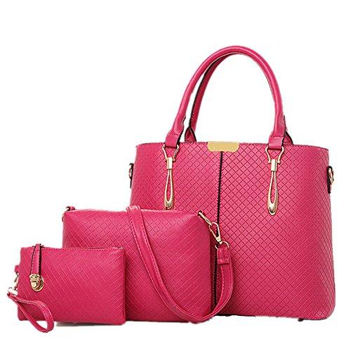 Messenger Damen Geldbeutel fanhappygo PU rosarot Handtasche Leder Bags Schultertasche and und mit Crossbody 86qd6xP