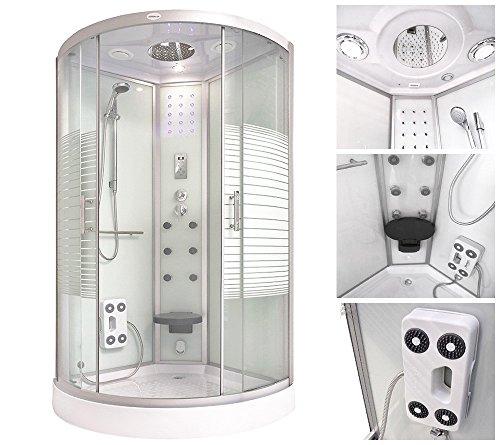 Home Deluxe Duschtempel | White Pearl | 100x100 cm | inkl. komplettem Zubehör