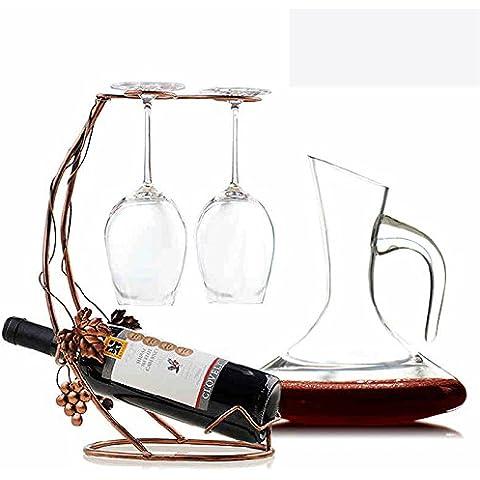 Piombo - bicchiere di cristallo di vino rosso calice di