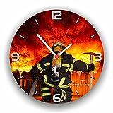 Roter Hahn 112 Hochwertige Feuerwehr Wanduhr Uhr BACKDRAFT/Rüdiger Piorek Edition/25cm/Geräucharm für Roter Hahn 112 Hochwertige Feuerwehr Wanduhr Uhr BACKDRAFT/Rüdiger Piorek Edition/25cm/Geräucharm