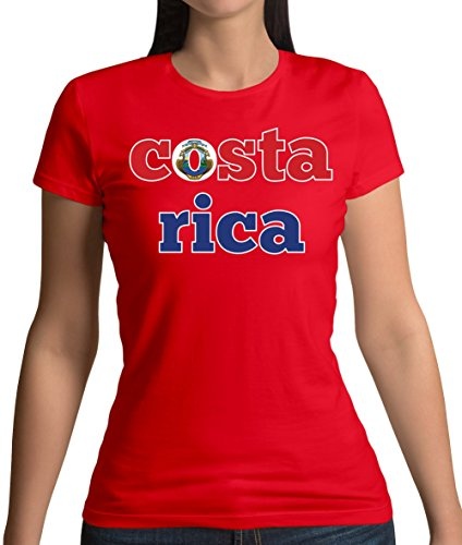 Dressdown Country Word Flags Costa Rica - Womens T-Shirt - 14 Colours
