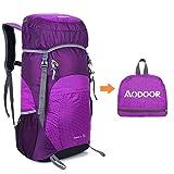 Aodoor 35 L Faltbarer Wasserdicht Rucksack, Ultralight Outdoor Wanderrucksäcke für Camping, Reisen, Fahrrad Schulter Rucksack, Zwei Farben (lila)