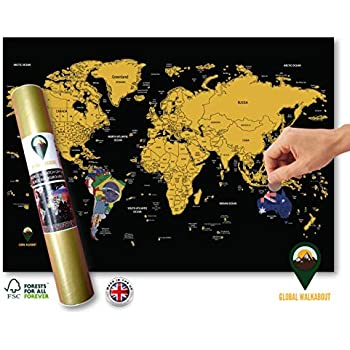 Scratch Map Travel Map - Travel sized personalized Scratch ...