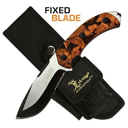 Elk Ridge Evolution Camo Orange ELK  - Outdoormesser  -  Orange , Klinge sehr scharf, Klingenlänge: 10,8 cm -