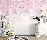 Muraon Carta da parati fiore di ciliegio rosa murale fiore impermeabile tela romantica floreale HD carte da parati rotoli personalizzati, 430x300 cm (169,3 x 118,1 pollici)