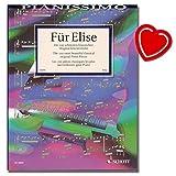 Für Elise - Hans-Günter Heumann - Sammlung der 100 schönsten leichten Originalkompositionen für Klavier mit bunter herzförmiger Notenklammer