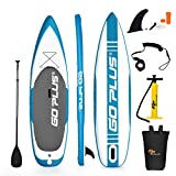 COSTWAY Stand Up Paddle Board Gonflable Planche de Surfavec Pompe Haute Pression,...