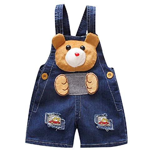GreatFun Kinder 'S Lätzchen, Kinder' S Cartoon große Ohren Hund Denim einteiliges Lätzchen, Baby Boy Girl 3D Cartoon Bär Hund Overall Jeans Hosen Kleidung, 0-3 Jahre alt