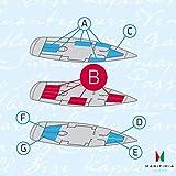 MARITIMIA Yacht Spannbettlaken (Typ B) rechteckige Doppelkoje breit Marineblau