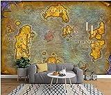 JHFVB Papier Peint peintures murales 3D Carte européenne Ancienne Jeu en Ligne World of Warcraft Carte Fond d'écran, 100 * 70cm...