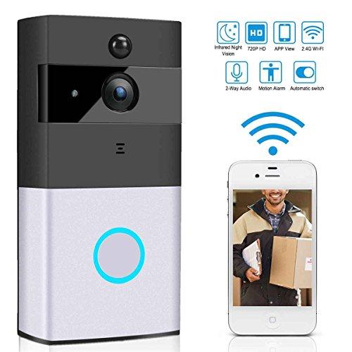 fish WiFi Smart Video-Türsprechanlage Funk-PIR-Nachtsicht-Türklingel Android IOS Smart Home Intercom-System Home Intercom-systeme