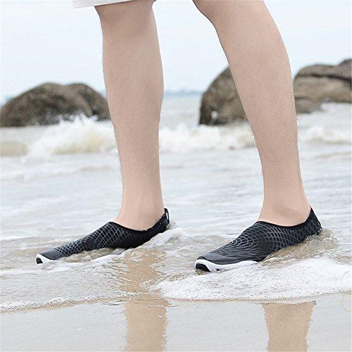 IceUnicorn Donna Uomo Estate Scarpe da Acquatici Spiaggia Nuotare Rapida Asciugatura Scarpette da Surf Yoga Scoglio Unisex Black White-JY