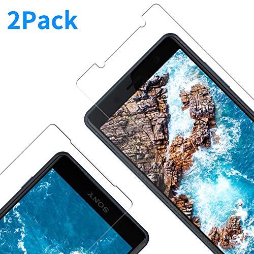 Vkaiy Displayschutzfolie für Sony Xperia XZ2 Compact, 9H Härte, Anti-Kratzen, Anti-Öl, Anti-Bläschen, HD Klar Glas Displayschutz Panzerglas kompatibel mit Xperia XZ2 Compact, 2 Stück